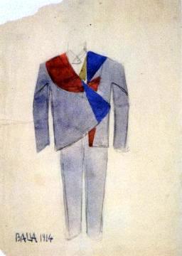 giacomo_balla_studio_per_vestito_futurista_da_uomo_1914 bleue dans Couture