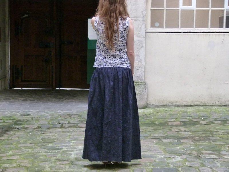 jupe-longue-bleue-marine-chez-louise-5 dans Couture